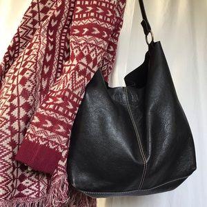 Vintage Hobo pebbled Leather Bag